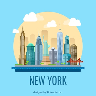 New York Illustrazione della città