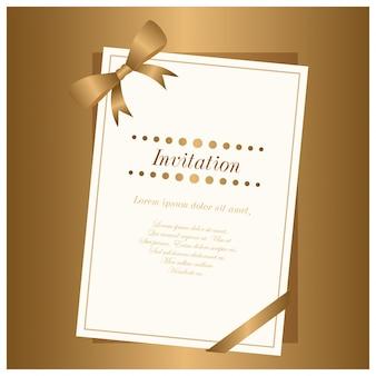 Nuovo gradino di Elgant Brown e Invitation Card Bianco usato per scopo invitaiton.