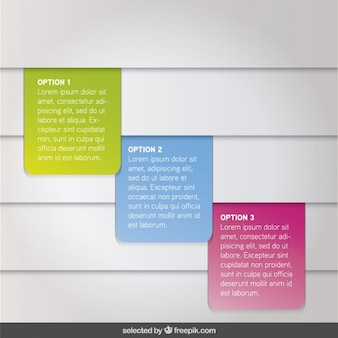 Opzione Tre infografica colorati