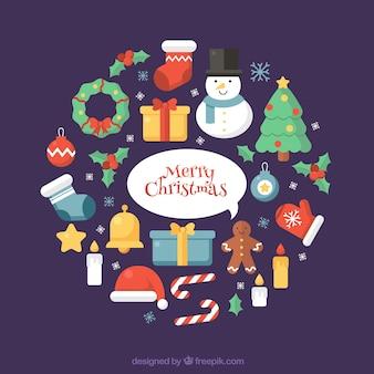Ornamenti di Natale con uno stile bello