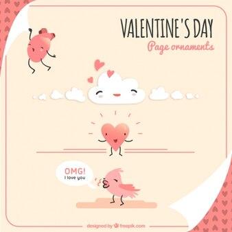 Ornamenti e personaggi San Valentino