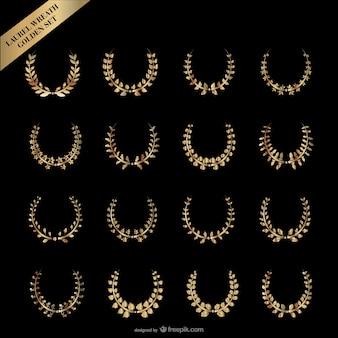 oro corona di alloro vettoriale