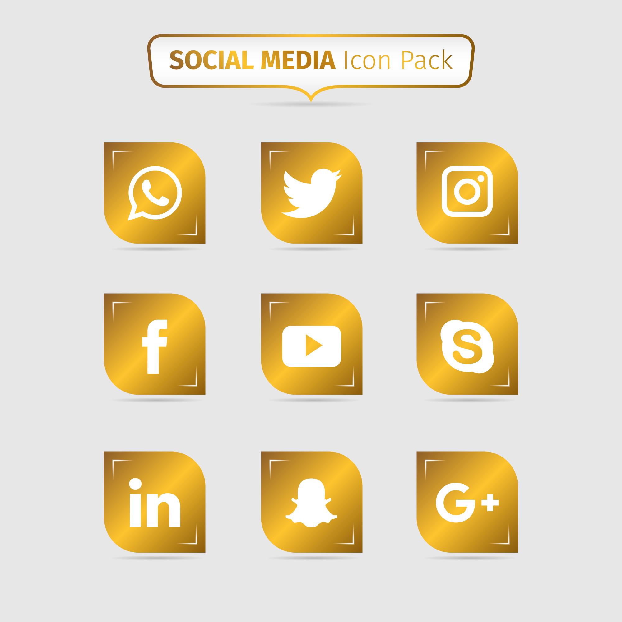 Oro icon pack social media