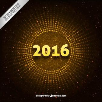 Oro punteggiato sfondo 2016