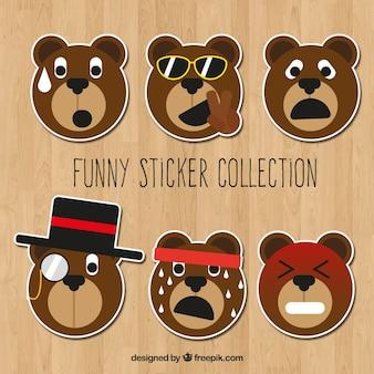 Pacchetto divertente di adesivi dell'orso di orsacchiotto
