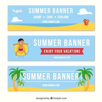 Pacchetto fantastico di tre banner estivi