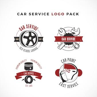 Pacchetto logo di servizio auto