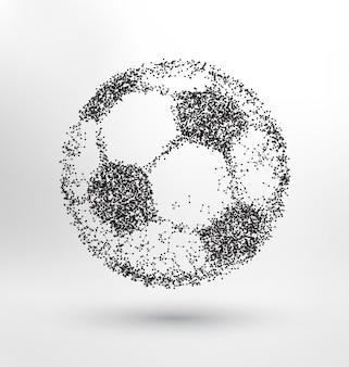 Pallone da calcio astratto