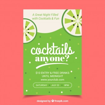 Partito cocktail green brochure