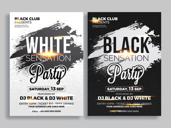 Party flyer o banner design in due colori concetto.