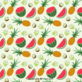 Pattern con frutti tropicali