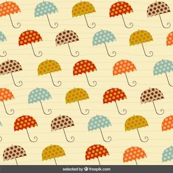 Pattern con ombrelloni tratteggiate