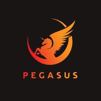Pegasus Logo. Logo del cavallo