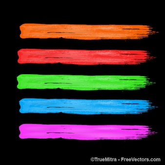 Pennellate di colori nero backgruond vettoriali
