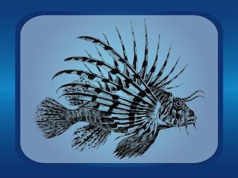 Pesci esotici animali acquatici vettore