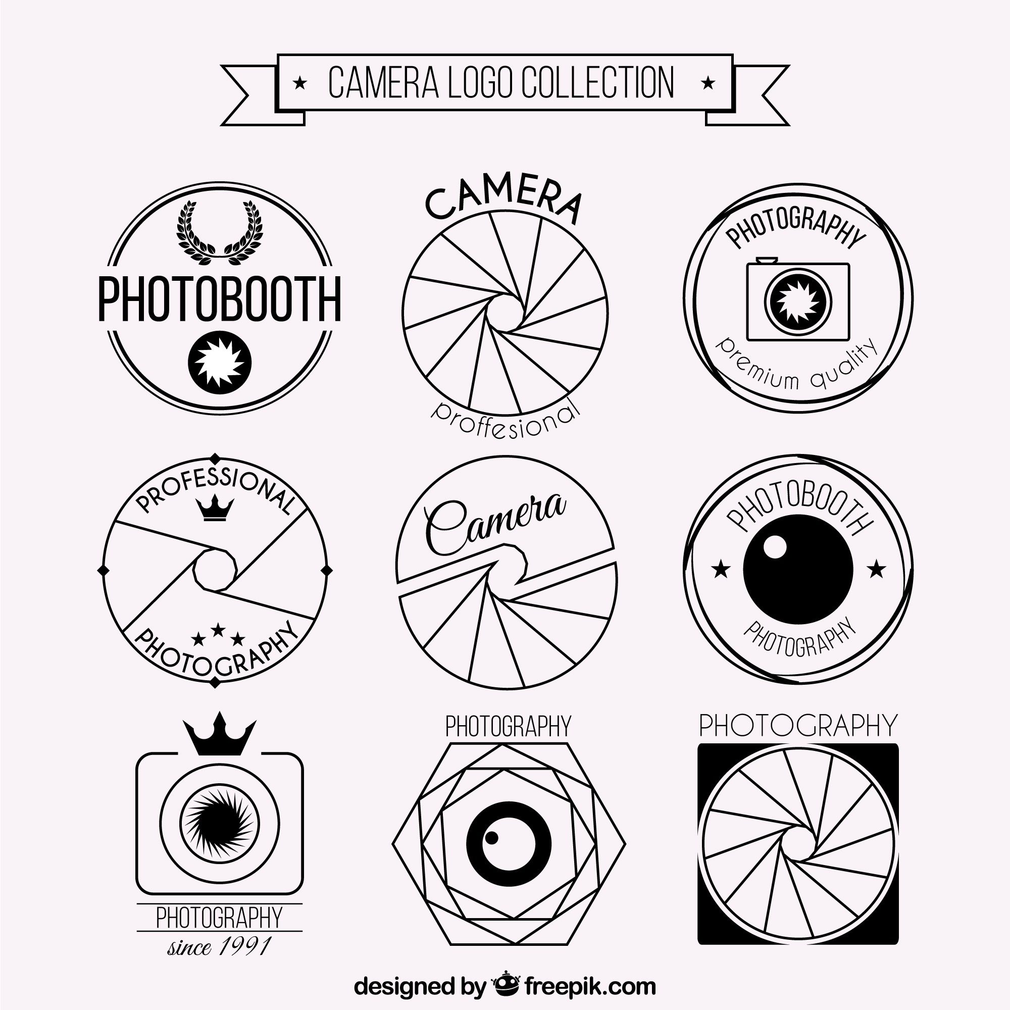 Photo Camera Logo Set