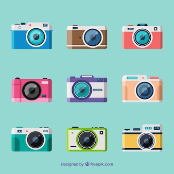 Piccola collezione di telecamere a disegno piatto
