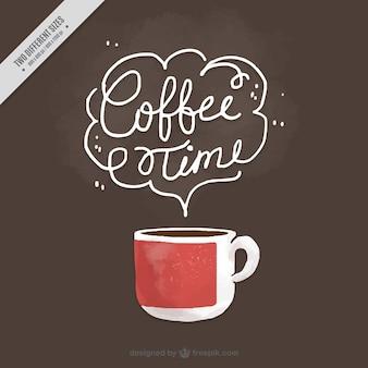 Piuttosto sfondo d'epoca di acquerello tazza di caffè