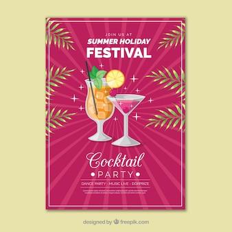 Poster del partito di cocktail