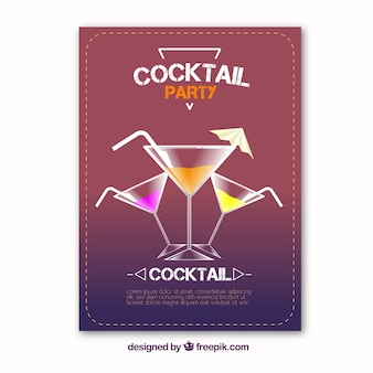 Poster del partito di cocktail