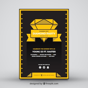 Poster del partito di estate del diamante