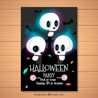 Poster di Halloween con i teschi