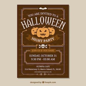 Poster di Halloween con stile vintage