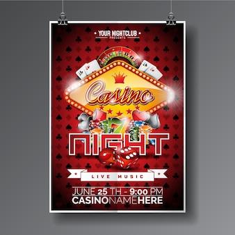 Poster di notte del casino