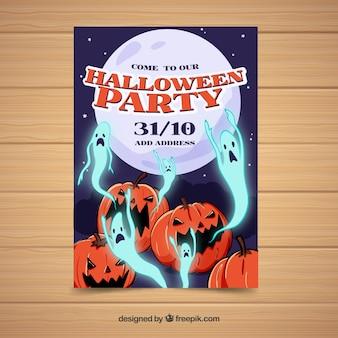 Poster di zucche e fantasmi