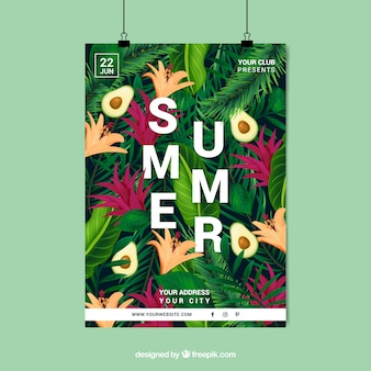 Poster floreale estate