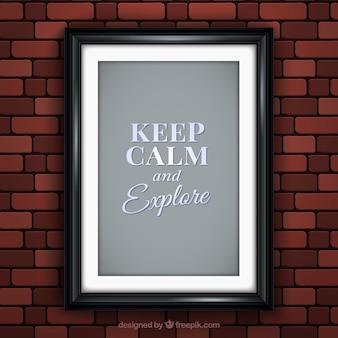 Poster incorniciato di mantenere calma