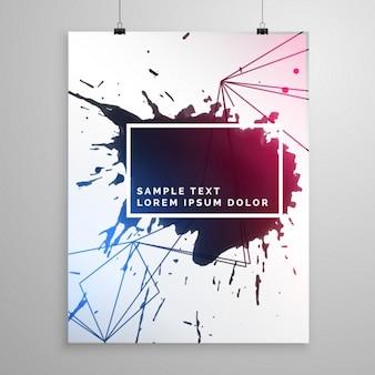 Poster modello volantino astratto goccia d'inchiostro