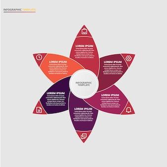 Presentazione modello di infographic aziendale con icone