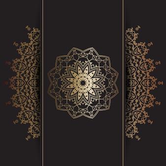 Priorità bassa decorativa con il disegno del mandala dell'oro