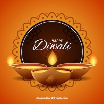Priorità bassa di Diwali con le candele