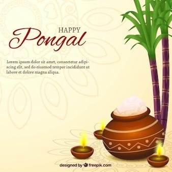 Priorità bassa felice Pongal con una pentola di riso