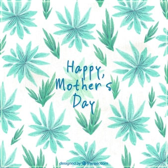 Priorità bassa graziosa con le piante in toni di verde per la festa della mamma