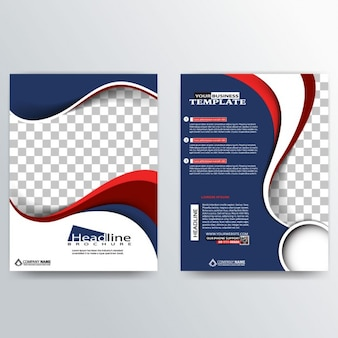 Professionale brochure astratto