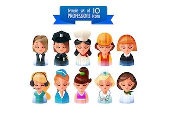 Professioni icone collezione