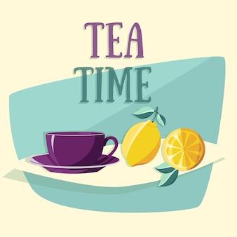 Progettazione tea time vettore