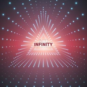Prospettiva universo colorato cyberspace mesh