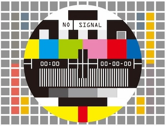 provino televisivo nessun segnale illustrazione vettoriale
