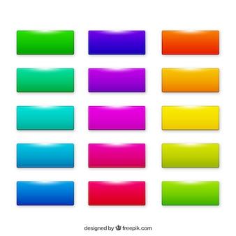 Pulsanti web rettangolo colorato