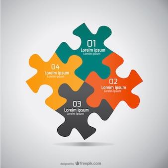 Puzzle piatto graphic design