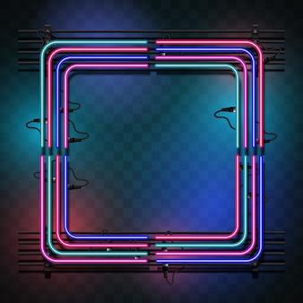 Quadrato con luci multicolori