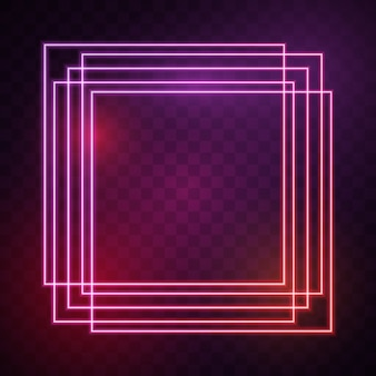 Quadrato con luci rosse