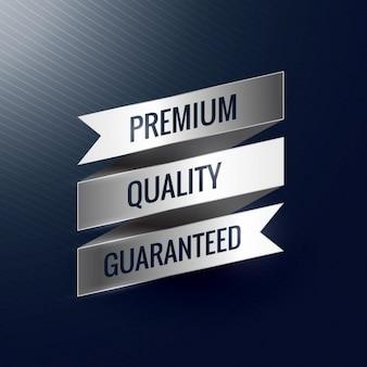 Qualità premium etichetta nastro d'argento garantito