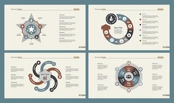 Quattro set di diapositive di formazione