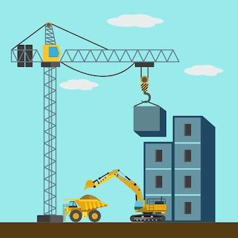 """""""In costruzione"""" disegno di sfondo"""