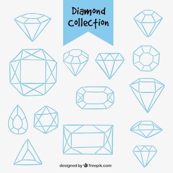 Raccolta dei diamanti disegnati a mano
